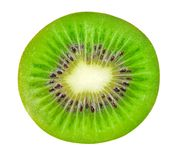 Isolated kiwi. Half of kiwi fruit isolated on white background with clipping path stock photography
