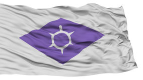Isolated Kofu Flag, Capital of Japan Prefecture, Waving on White Background Royalty Free Stock Photography