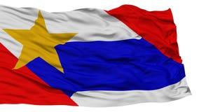 Isolated Lafayette City Flag, United States of America Stock Photography