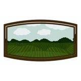 Isolated landscape inside frame design Stock Photo