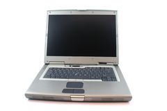 Isolated laptop. Laptop on a white background - close up Stock Images