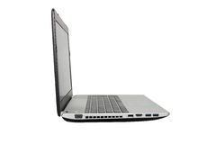 Laptop in white background Royalty Free Stock Photography