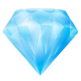 Isolated large blue diamond vector Royalty Free Stock Images