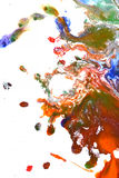 Isolated large patches spots blots of splash mixed colors Stock Photos