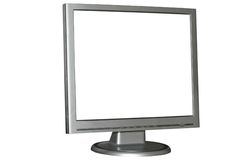 Isolated LCD monitor. With blank screen. Can be used as a base for more complex illustrations royalty free stock photos