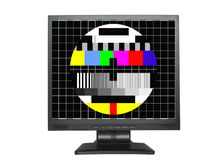 Isolated LCD with test screen Royalty Free Stock Photos