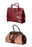Isolated leather bags Royalty Free Stock Photography