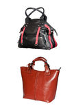 Isolated leather bags Stock Photography