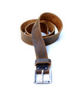 Isolated leather belt. Royalty Free Stock Images