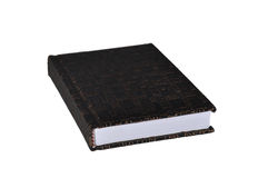 Isolated leather notepad on a white background Stock Image