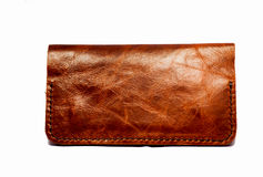 Isolated leather pocket Stock Images