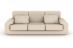 Isolated leather sofa. An interior. Royalty Free Stock Photos