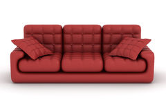 Isolated leather sofa. An interior. Stock Photography