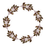 Isolated leaves crown decoration design Royalty Free Stock Photos