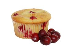 Isolated Lemon Cranberry Muffin Royalty Free Stock Photos