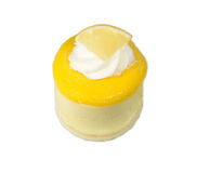 Isolated Lemon mousse Stock Image