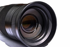 Isolated lens. On white background stock photography