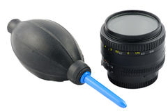 Isolated lens cleaning kit Royalty Free Stock Photography