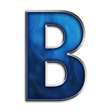 Isolated letter B in tribal blue Royalty Free Stock Images