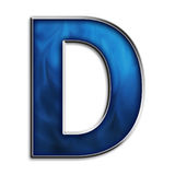 Isolated letter D in tribal blue Stock Images