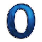 Isolated letter O in tribal blue Stock Photo