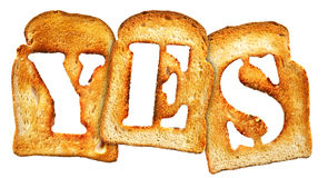 Isolated Letter of Toast alphabet Royalty Free Stock Images