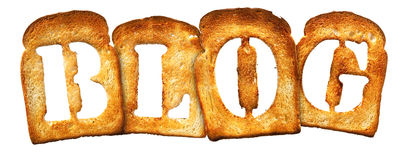 Isolated Letter of Toast alphabet Stock Photography