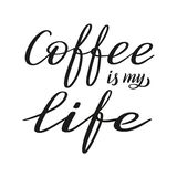Coffee is my love. Brush pen lettering. Vector. royalty free illustration