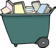 Isolated Library Cart Stock Photos