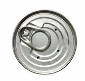 Isolated lid of tin can on white Royalty Free Stock Photos