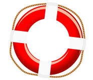 Isolated life buoy. With ropes for help or SOS concept Royalty Free Stock Image