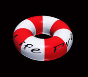 Isolated Life Preserver on Black royalty free stock image