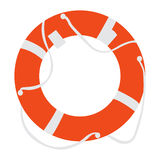 Isolated lifesaver icon. On a white background, Vector illustration Royalty Free Stock Photo