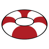 Isolated lifesaver icon. On a white background, Vector illustration Royalty Free Stock Images