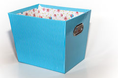 Isolated light blue box Royalty Free Stock Photo