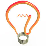 Isolated light bulb, 3D Royalty Free Stock Photos