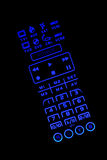 Isolated lighted TV remote control Royalty Free Stock Images