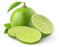 Isolated Lime Fruits Royalty Free Stock Photo