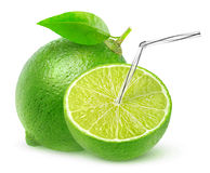 Isolated lime juice stock photography