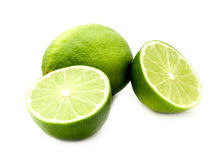 Isolated limes Stock Photos