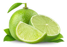 Isolated Limes Stock Images