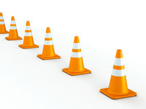 Line of Traffic Cones Stock Photo