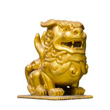 Isolated Lion sculpture Royalty Free Stock Photos