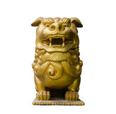 Isolated Lion sculpture Royalty Free Stock Photography