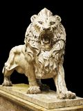 Isolated lion statue Stock Image