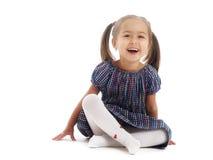 Isolated little girl Stock Photos
