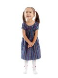 Isolated little girl Royalty Free Stock Photography