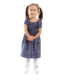 Isolated little girl Royalty Free Stock Images