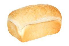 Isolated loaf of bread. Loaf of white bread isolated on a white background Stock Photo