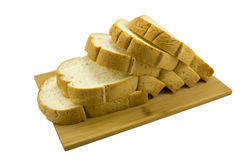 Isolated loaf of whole wheat sandwich bread Stock Image